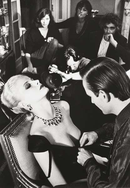 Helmut Newton-Woman being filmed, Paris-1980