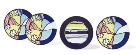 Roy Lichtenstein-Water Lilies : Service plates; Abstract : Service plate-1990