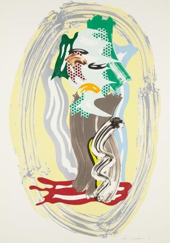 Roy Lichtenstein-Green Face-1989