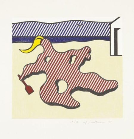 Roy Lichtenstein-Surrealist series : Nude on the beach-1978