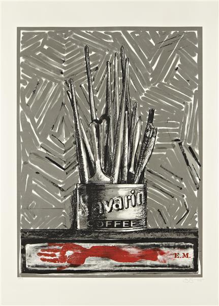 Jasper Johns-Savarin-1981