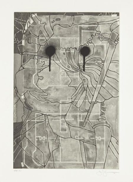 Jasper Johns-Untitled, from Geldzahler Portfolio-1997