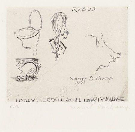 Marcel Duchamp-Rebus-1961