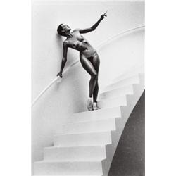 Helmut Newton-Jenny Kapitan in my Studio, Paris-1978