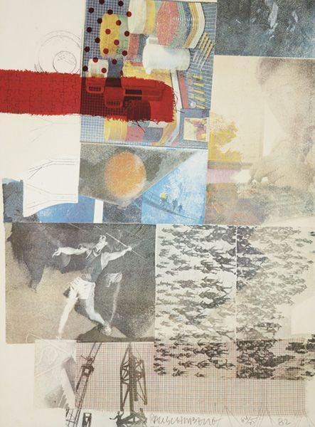 Robert Rauschenberg - Untitled (From The Thirteen Prints To Commemorate Anthology Film Archives)-1982