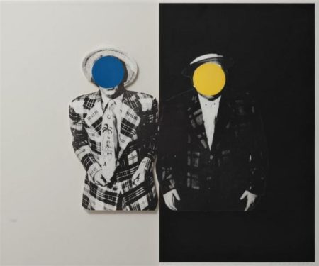 John Baldessari-Blue Boy (With Yellow Boy): One with Hawaiian Tie and One in Dark / Two Men-1990