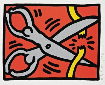Keith Haring-Keith Haring - Scissors, from Pop Shop III suite-1989