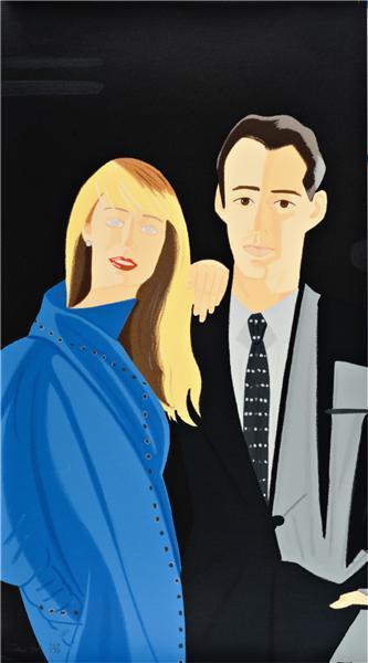 David Salle and Janet Leonard, from Pas de Deux portfolio-1992