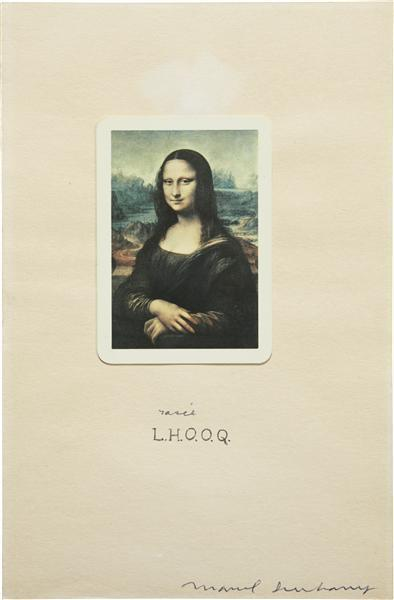 Marcel Duchamp-L.H.O.O.Q. Rasee (Shaved)-1965