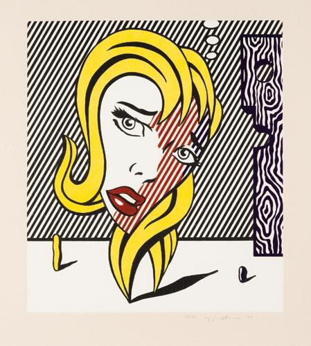 Roy Lichtenstein-Blonde, from the Surrealist series-1978