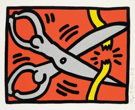 Keith Haring-Keith Haring - Scissors, from Pop Shop III-1989