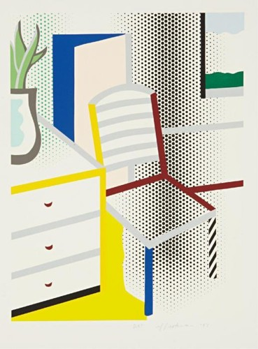 Roy Lichtenstein-Interior with Chair, from Leo Castelli 90th Birthday portfoli-1996