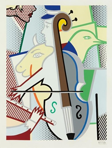 Roy Lichtenstein-Cubist Cello-1997