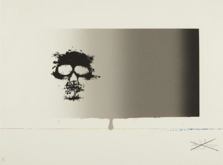 Jasper Johns-Untitled (Skull) from Reality and Paradoxes Series (ULAE 127)-1973
