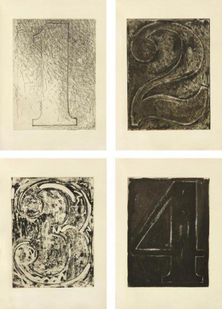 Jasper Johns-Fizzles (Foirades) book-1976