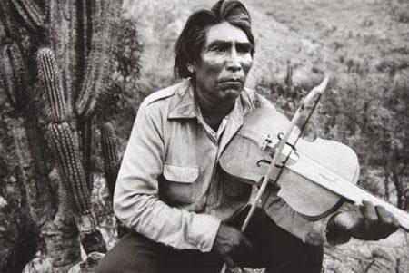 Sebastiao Salgado-Mexico (Man with Violin)-1984