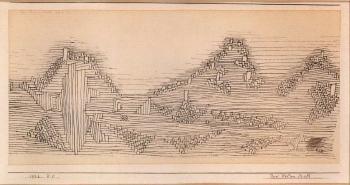 Paul Klee-Drei Felsen Stadt-1926