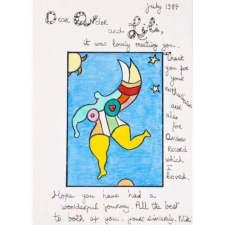 Niki de Saint Phalle-Fliegender Engel-1987