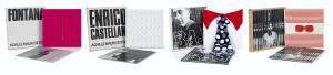 Enrico Castellani-Lucio Fontana-Enrico Baj-4 Multiples et Catalogues (Conceto Spaziale, Estroflesione, Lunettes pour une vision Autre, Cravatte)-