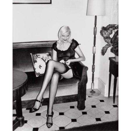 Helmut Newton-Nadja Adjusting Stocking, Hotel Balmoral-1994