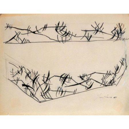 Lucio Fontana-Due studi per decorazione spaziale-1949