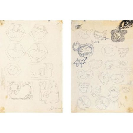 Lucio Fontana-Otto studi per Teatrini 21 studi per Teatrini-1966