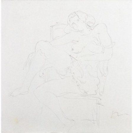 Lucio Fontana-Figura femminile seduta-1960