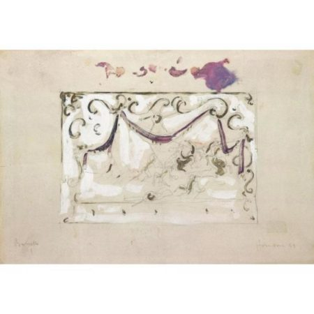 Lucio Fontana-Bozzetto per pannello decorativo-1949