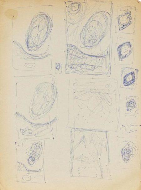 Lucio Fontana-Studio per Inchiostri-1959