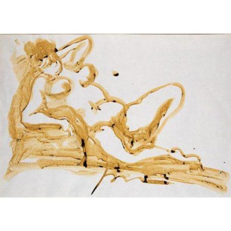 Lucio Fontana-Nudo sdraiato-1965
