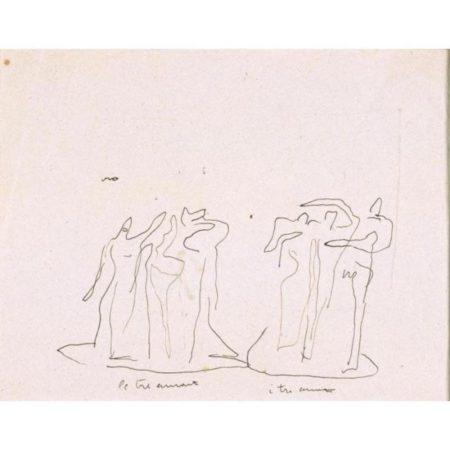 Lucio Fontana-Le tre amanti I tre amanti-1939
