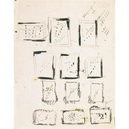 Lucio Fontana-Studi per buchi-1956