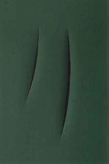 Lucio Fontana-Concetto spaziale - Attese-1963