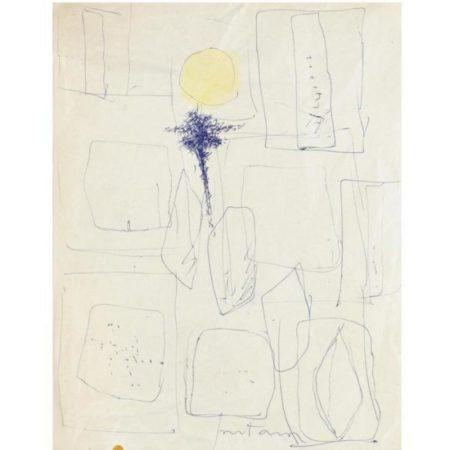 Lucio Fontana-Studi per gessi-1958