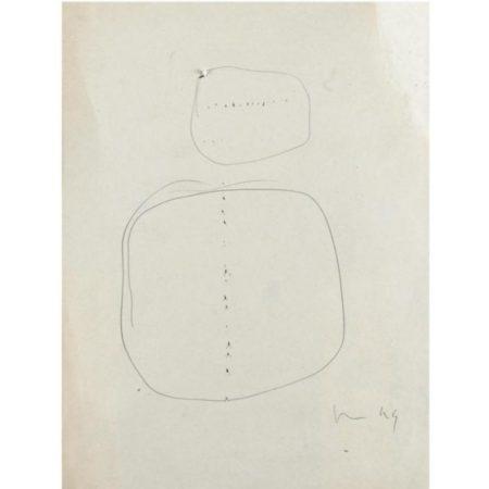 Lucio Fontana-Due studi per buchi-1949