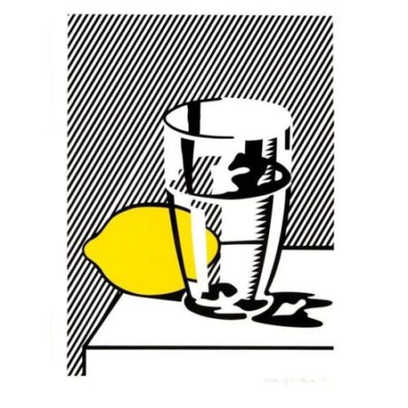 Roy Lichtenstein-Still Life with Lemon and Glass-1974