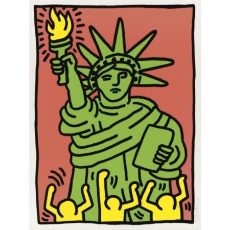 Keith Haring-Keith Haring - Statue Of Liberty (L. P. 63)-1986