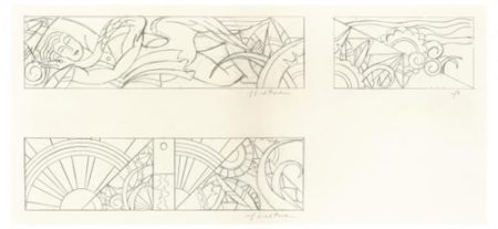 Roy Lichtenstein-Studies for Leda and the Swan-1968