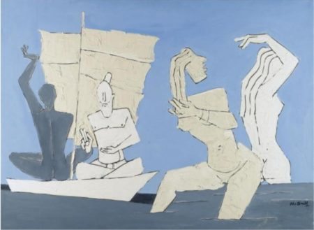 Maqbool Fida Husain-Ritual Of A River-