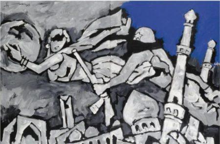 Maqbool Fida Husain-The Thief of Baghdad-2003