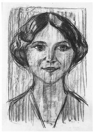 Edvard Munch-Cally Monrad (w. 608; Sch. 466)-1917