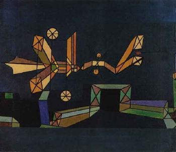Paul Klee-Ankunft der Luftdrache (Arrival Of The Air Dragon)-1927