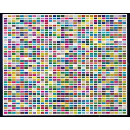 Gerhard Richter-Farbfelder, 6 Anordnungen von 1260 Farben (Gelb-Blau-Rot) / Colour Fields, 6 Arrangements of 1260 Colours (Yellow-Blue-Red)-1974
