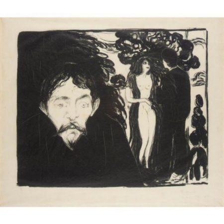 Edvard Munch-Eifersucht II (Woll 69; Schiefler 58) / Jealousy II-1896