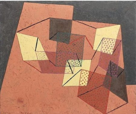 Paul Klee-Verspannte Flachen (Braced Surfaces)-1930