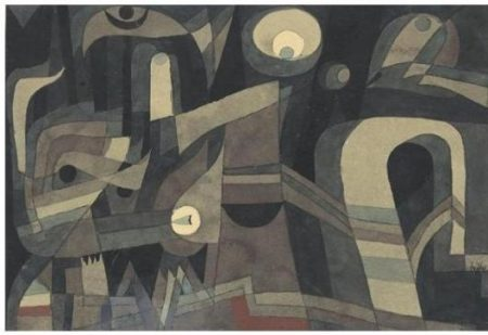 Paul Klee-Nachts (Grun / Indischrot, Duster) (At Night (Green-Indian Red, Gloomy))-1921