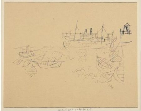Paul Klee-Hafenbild (View Of A Harbour)-1925