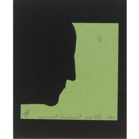 Marcel Duchamp-Self-portrait in profile-1963