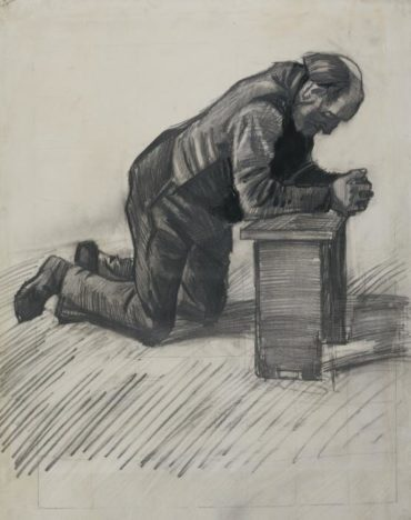 Vincent van Gogh-Old man praying-1882