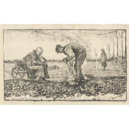 Vincent van Gogh-Travail des champs-1883